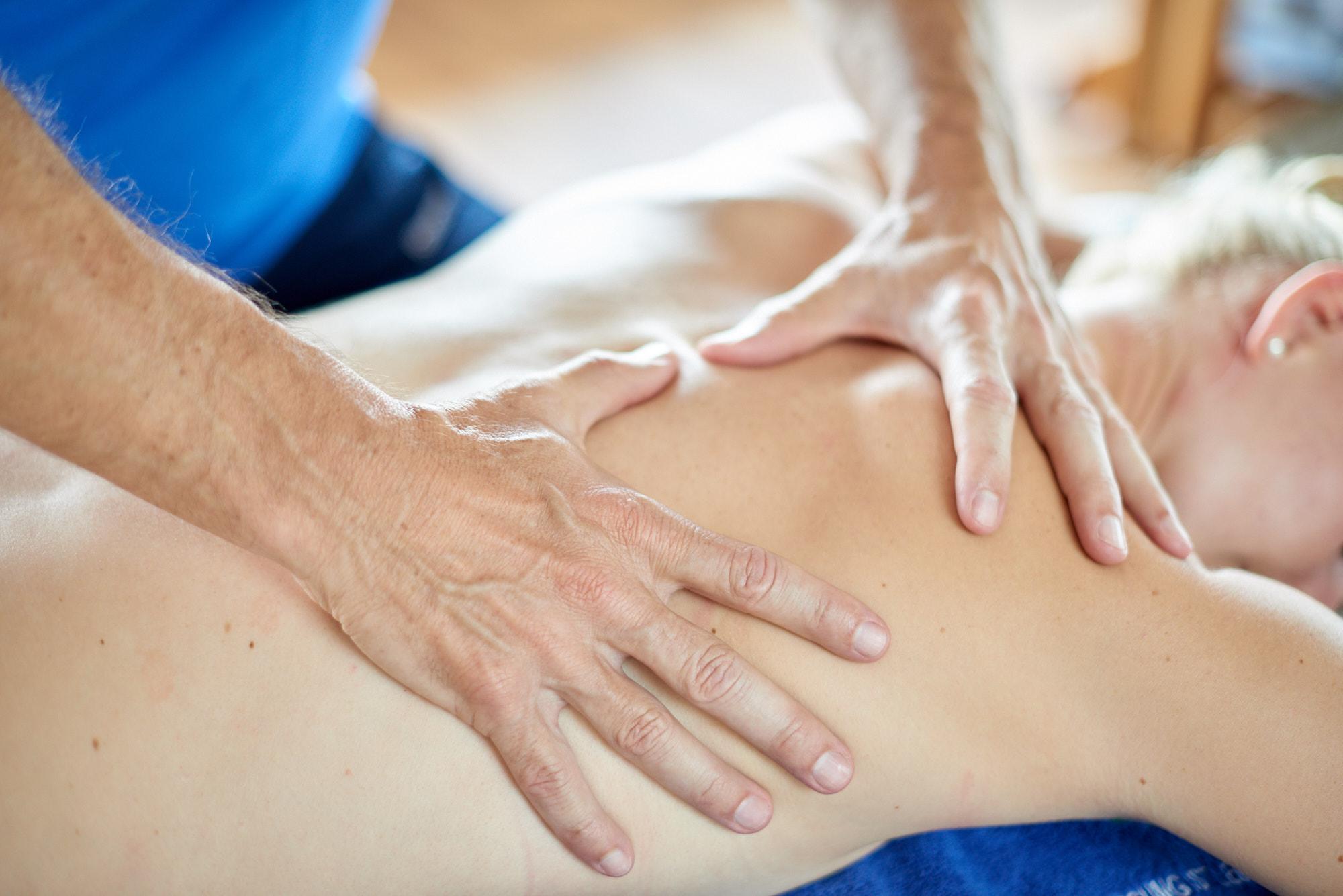 Bei der Massage