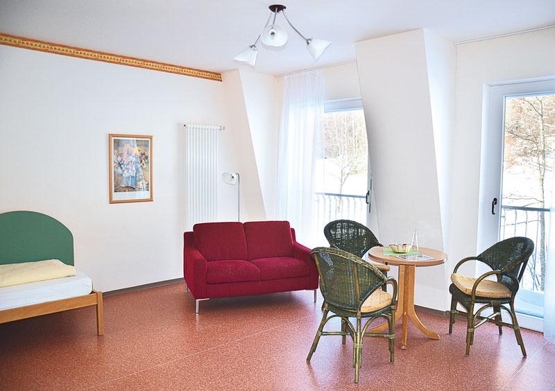 Patientenzimmer Gemeinschaftsecke