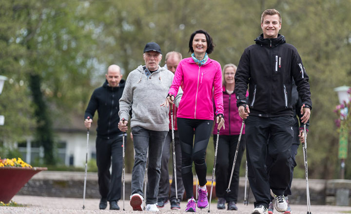 Nordic-Walking-Angebot in der Klinik