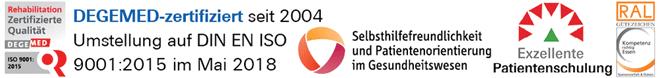 Zertifizierung Dr. Becker Rhein-Sieg-Klinik