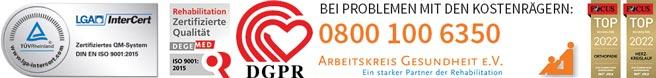 Zertifizierung Reha-Kliniken Küppelsmühle