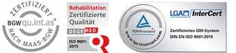 Zertifizierung Johannesbad Fachklinik, Gesundheits-& Rehazentrum Saarschleife