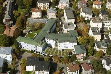 Luftaufnahme der Klinik