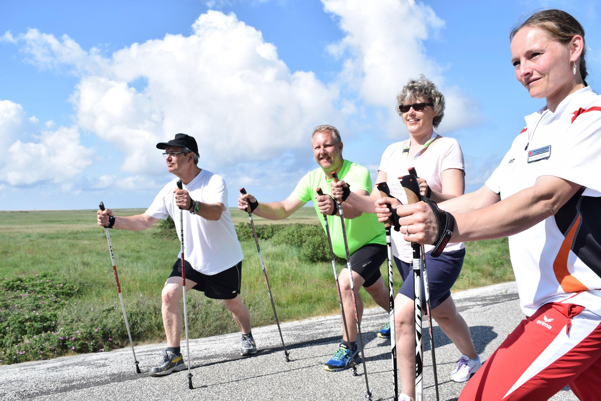 Nordic Walking auf dem Nordseedeich
