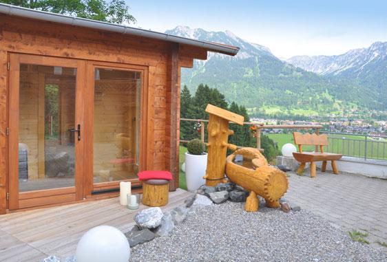 Außenansicht Sauna