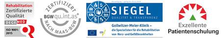 Zertifizierungen Gollwitzer-Meier-Klinik