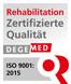 Zertifizierung DEGEMED - Schüchtermann-Klinik