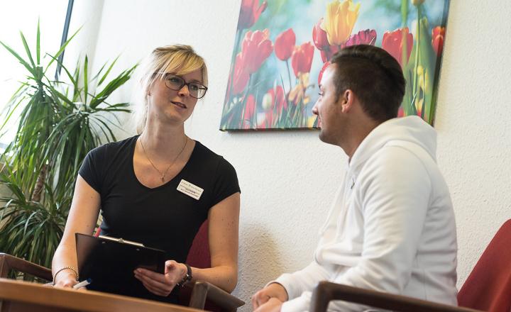 Einzelgespräch in der Klinik Möhnesee