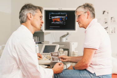 Befundbesprechung mit dem Arzt