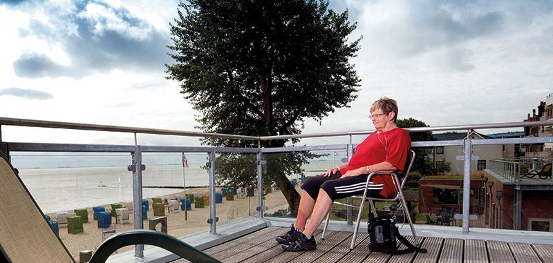 Balkon am Meer