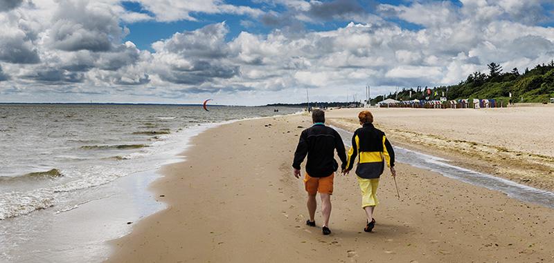 Spazieren am Meer - Resilienz
