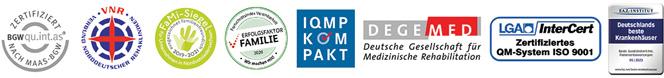 Zertifizierungen Waldklinik Jesteburg, Zentrum für Rehabilitation