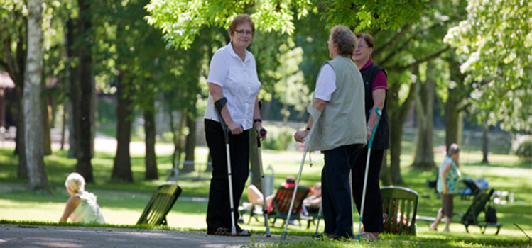Patienten im Park