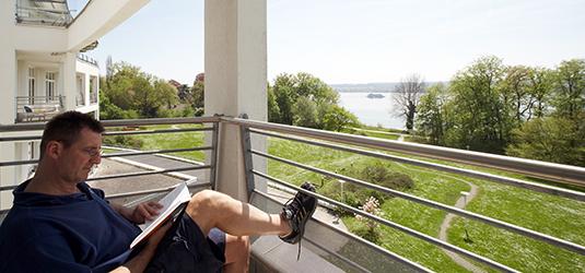 Pause auf dem Balkon