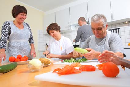 gemeinsame Zubereitung der Speisen