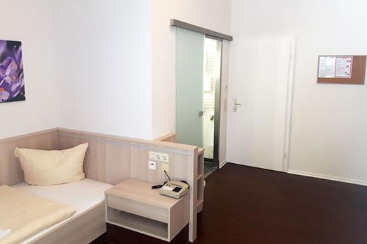 Blick ins Einzelzimmer