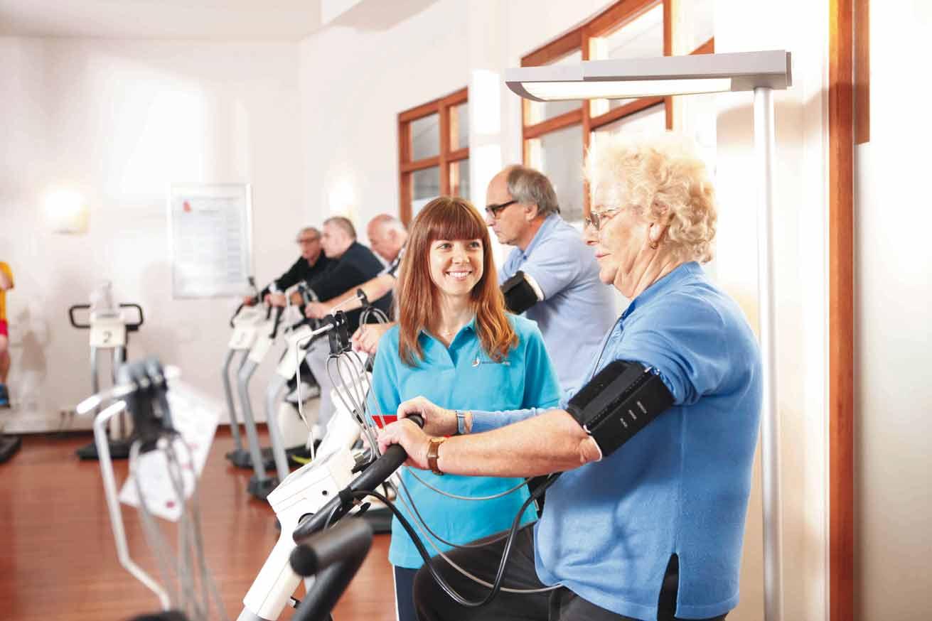 Trainingseinheit in der Klinik