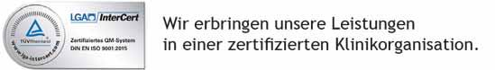 Zertifizierung PASSAUER WOLF Reha-Zentrum Ingolstadt