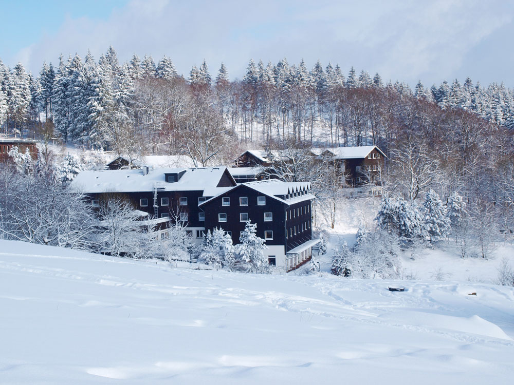 Winteranblick der Klinik