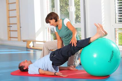 Gymnastik am Ball