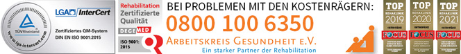 Zertifizierung Reha-Klinik Küppelmühle Frankfurt