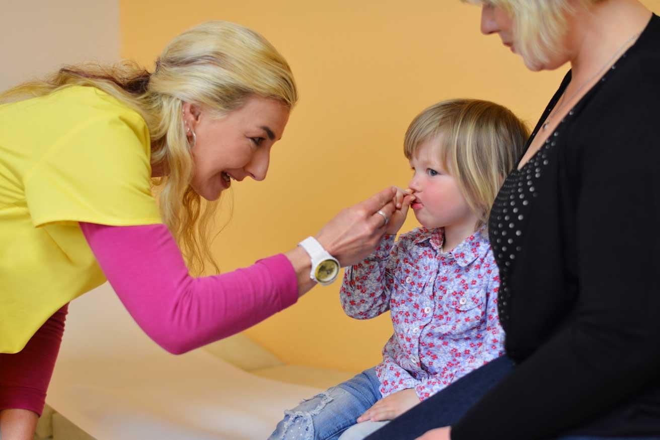 Betreuung von Mutter und Kind